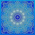 Blue Space Flower by Hanza Turgul