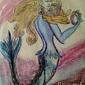 Blue Spike Mermaid by Diane Phelps
