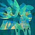 Blue Square Retro by Ann Powell