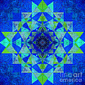 Blue Sri Yantra Variation by Susan Bloom