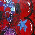 Blue Star Graffiti Nyc 2014 by Joan Reese