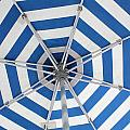 Blue Striped Umbrella by Jerry Patterson