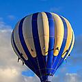 Blue Stripped Hot Air Balloon by Robert Bales