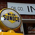 Blue Sunoco Globe by Paul Ward