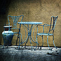 Blue Table And Chairs by Lucinda Walter