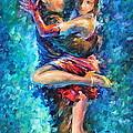 Blue Tango 1 by Leonid Afremov