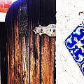 Blue Tile Brown Door 1 by Korynn Neil
