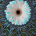 Blue Tipped Flower by Lori Frostad