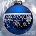 Blue Tree Ornament by Amel Dizdarevic