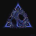 Blue Triangle Jewel Abstract by Judi Suni Hall