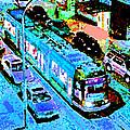 Blue Trolley Portland by Michael Moore