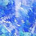 Blue Twirl Abstract by Ann Powell