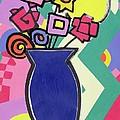 Blue Vase by Bodel Rikys