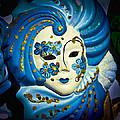 Blue Venetian Mask by Jon Berghoff