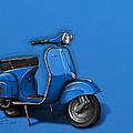 Blue Vespa by Etienne Carignan