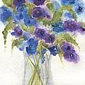 Blue Violet Flower Vase by Jamie Frier