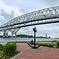Blue Water Bridge Anchor by LeeAnn McLaneGoetz McLaneGoetzStudioLLCcom