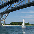 Blue Water Bridge Sail by Ann Horn