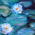 Blue Water Lilies by Lauren Heller