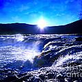 Blue Waterfall by Lj Lambert
