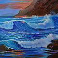 Blue Waves Hawaii by Jenny Lee