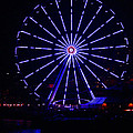 Blue Wheel Of Fortune by Kym Backland