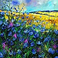 Blue Wild Chicorees by Pol Ledent