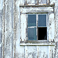 Blue Window In Weathered Wall by Lynn Hansen