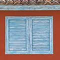Blue Window Shutter Of Aruba by David Letts