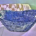 Blue Woven Basket by Aliceann Carlton