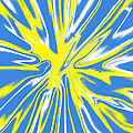 Blue Yellow White Swirl by Christopher Shellhammer