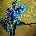 Bluebells In Water Splash by Peter v Quenter