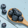 Blueberries On A Spoon by Brandon Bourdages