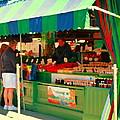 Blueberries Strawberry Jam Baskets Ferme Racine Petits Fruits Jean Talon Market Scene Carole Spandau by Carole Spandau