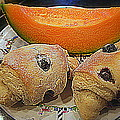 Blueberry Scones And Cantaloupe by Kay Novy
