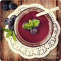 Blueberry Smoothie Retro Style Photo.  by Jane Rix