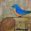 Bluebird Art - Knowledge Is Key by Blenda Studio
