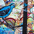 Bluebird Sings With Happiness by Terry Rowe