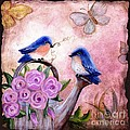 Bluebirds And Butterflies by Marilyn Smith