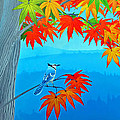 Bluejay In The Fall by Duane McCullough