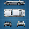 Blueprint Aston Martin DB5 by Mark Rogan