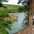 Bluff Over The River In Five Finger Rapids Recreation Site Along Klondike Hwy-yt  by Ruth Hager