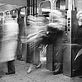 Blurred In Turnstile by Dave Beckerman
