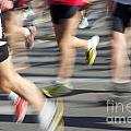 Blurred Marathon Runners by Jannis Werner