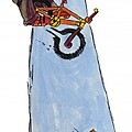 Bmx Drawing by Mike Jory