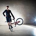 BMX Flatland rider Monika Hinz elegant and cool