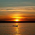 Boat At Sunset by Evgeni Ivanov