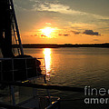 Boat At Sunset by Marcia Nichols