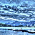 Boat Dock At Holter Lake by John Lee