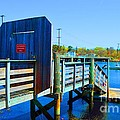 Boat Dock In Rhode Island by Christopher Shellhammer